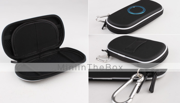 Hard Protective Pouch with Keychain for PSP 1000/2000/3000