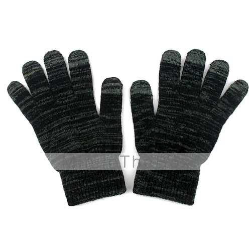 Fashionable Touch Screen Gloves for iPhone, iPad and More (Dark Gray)
