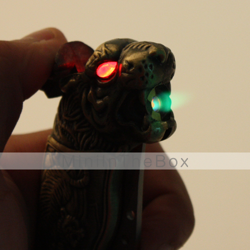 2-in-1 Tiger Shaped Gas Lighter with Knife