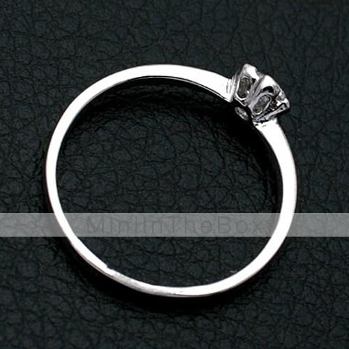USD $ 3.39   Crystal Diamond Inlaid Flower Ring,