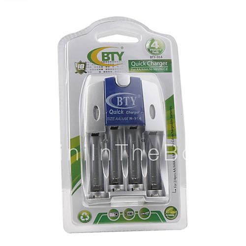 BTY-914 быстрое зарядное устройство для AA / AAA Ni-MH/Ni-CD батареи.