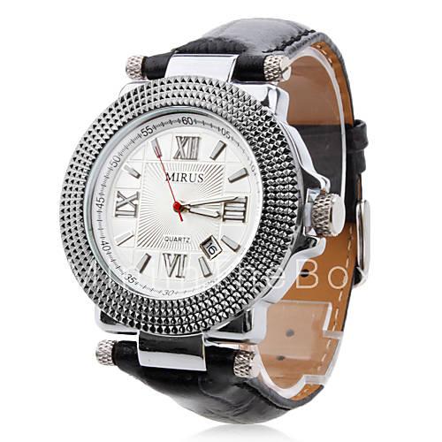 € 17.17 los hombres pu analógico de cuarzo reloj de pulsera con on ... 1045ec22b776