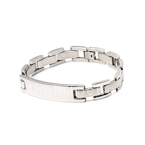Мужские браслеты. мужской браслет гладкая стальная поверхность титана (серебро). Условия доставки lureme силиконовые