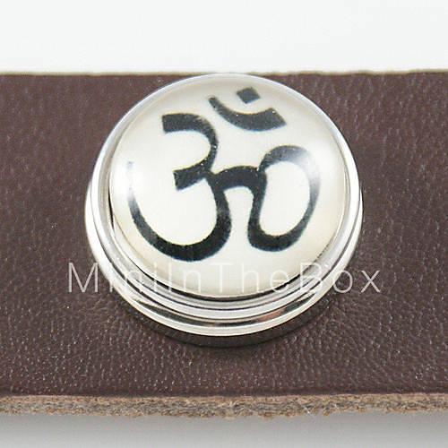 EUR $ 1.37 - Посеребренные черный символ шаблона стекла DIY кнопки бисера.