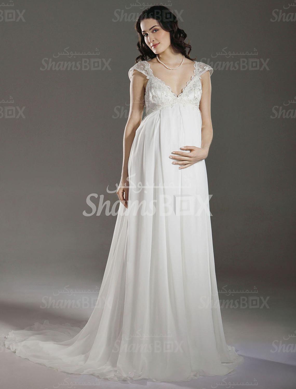 Свадебное зимнее платье для беременных 1137